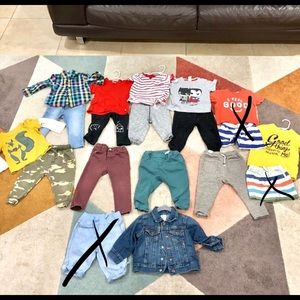 4d5a418e Boys size 12-18 months lot zara, baby gap, H&M